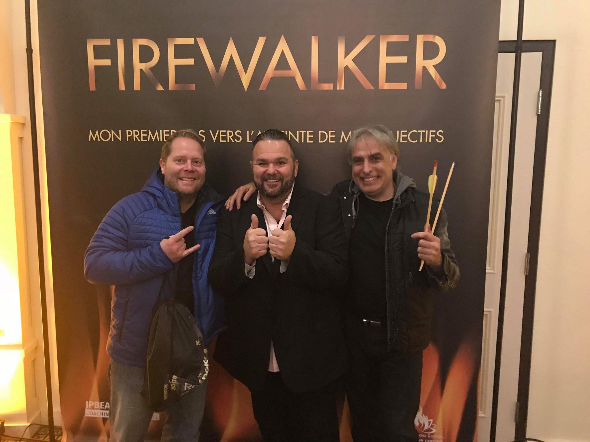 Marche sur le feu avec Jean Pierre Beaudoin !